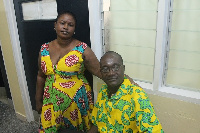 Jaga Pee and his wife at the National Cardiothorac Centre