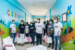The items donated to the hospital included gloves, sanitizers, hand towels, plaster