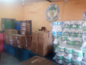 Some of the items they donated include Veronica Buckets, tissue papers among others