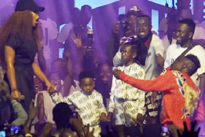 Michy accepted Shatta Wale's proposal on stage