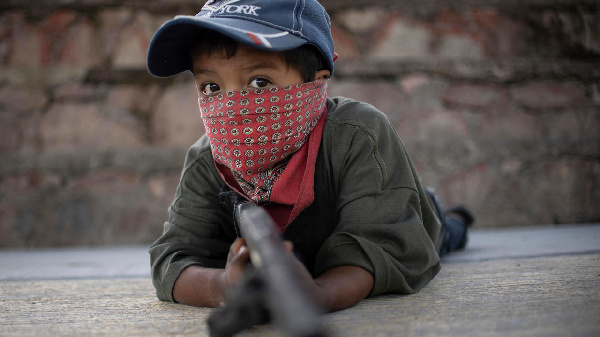 The kids taking up arms against drug cartels are aged between five and fifteen