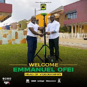 Asante Kotoko CEO, Nana Yaw Amponsah and Emmanuel Ofei