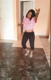 Afia Schwarzenegger, wine in hand dances to Wutah's 'Bronya'