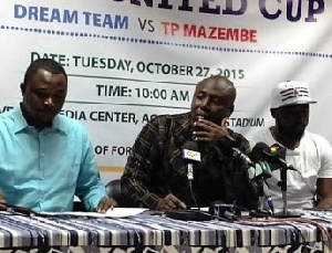 Primeval Media Boss Larry Opare Otoo at the launch of the Africa United Cup