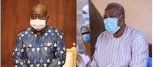 President Nana Addo Dankwa Akufo-Addo and John Dramani Mahama