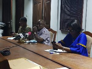 Members of SPMDP addressing the press