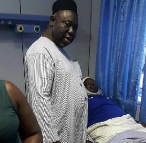 Alhaji MND Jawula visits Samuel Aboabire at the 37 Military Hospital