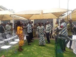 GRA Staff, Management and Staff dancing