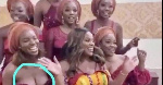 Joe Mettle's wife's bridesmaid criticised for showing her cleavage