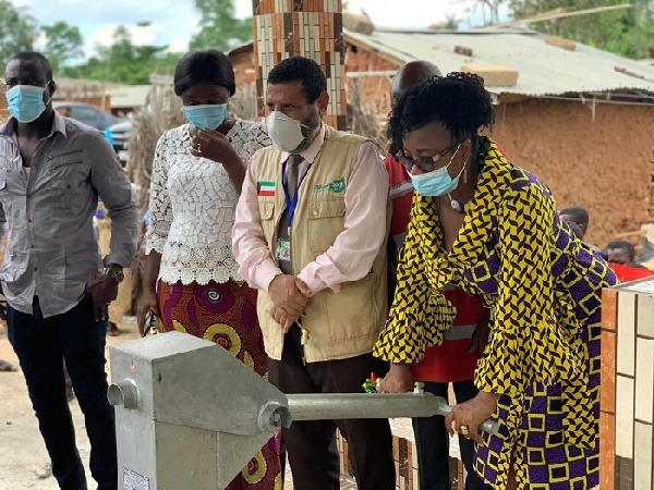 Cynthia Morrison commissions boreholes to step up Safe Water Campaign
