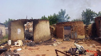 Some of the homes which have been torched