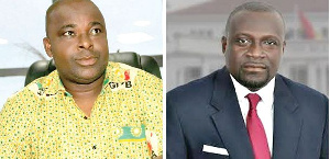 The CEO of Free Zones Board, Michael Baafi is contesting inimbent MP, Assibey Yeboah