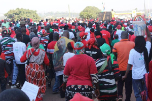 File photo: Participants were mostly clad in red and black