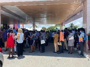 Several young men and women thronged to the AICC for job opportunities