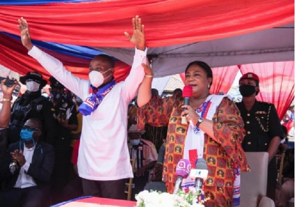 First Lady woos Ablekuma South Constituency for NPP