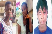 The three girls were kidnapped in Takoradi last year