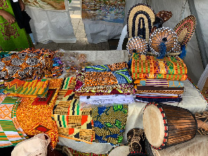 Some of the artifacts on exhibit at the Ghanaian stand at the festival