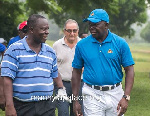 Otumfuo Osei Tutu II (R) will compete in a four-ball round of golf