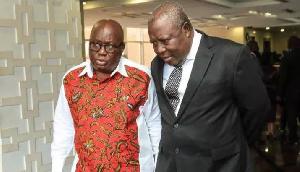 Martin Amidu (R) and President Nana Akufo-Addo