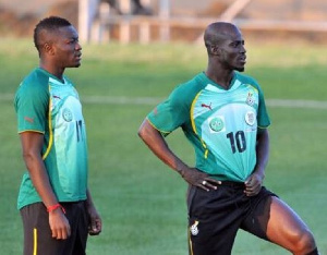 Sulley Muntari and Appiah played two World Cups together
