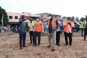 Accra Mayor on Wednesday toured parts of Accra