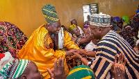 Dr. Bawumia also paid courtesy calls on the Yoo Naa, Yakubu Andani Abdulai in Savelugu