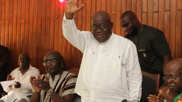 The President-elect - Nana Akufo-Addo and his Vice Bawumia visit Western Regional House of Chiefs.