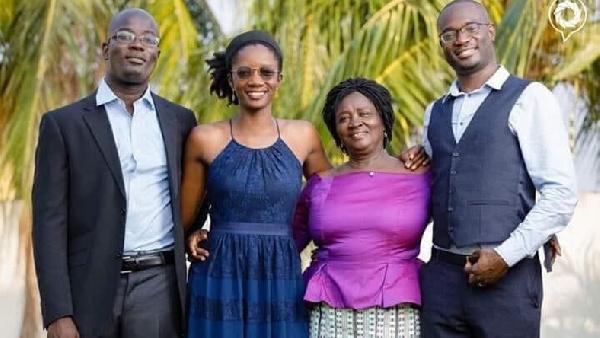 Prof Naana Opoku Agyemang, NDC running mate and her children