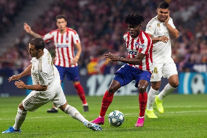 Thomas Partey was man of the match in the Madrid derby