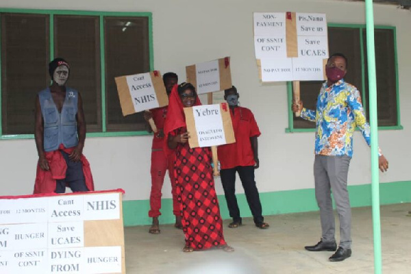 Staff protest over 12 months salary arrears