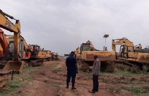 Kwaku Asomah-Cheremeh at where the excavators are