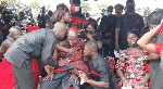 Father of police officer killed in bullion van attack inconsolable at son's funeral