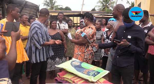 NDC's Ramadan donates to victims rendered homeless by fire outbreak at Adentan-Frafraha