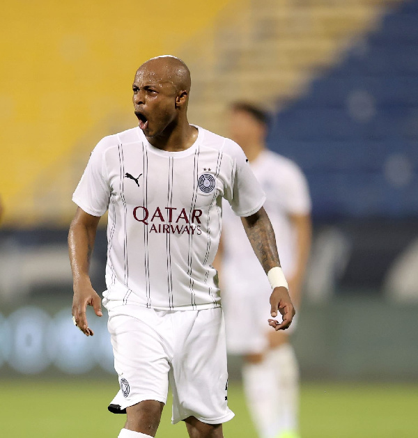Andre Ayew scores in third consecutive game for Al Sadd in 7-1 humiliation against Al Shamal