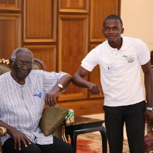 Daniel Amoshie and former President Kufuor