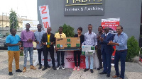 Sualesu Awal Mohammed and Emmanuel Ani Offei with their prizes