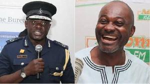David Asante-Apeatu (L) and Kennedy Agyapong (R)