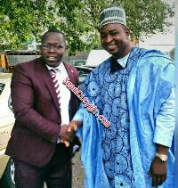 Mr. Bernard Antwi Bosiako popularly known as Wontumi was present at Agya Koo's wedding.