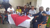 Some suspended NPP executive members at a press conference