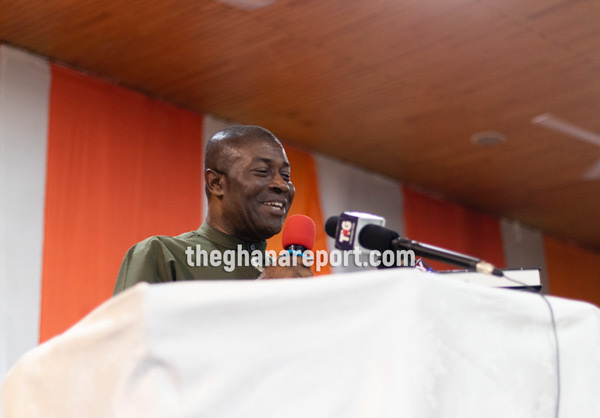 Nana Akomea jabs Mahama at Manasseh's book launch