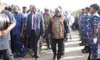 President Akufo-Addo with management of the Port Authority