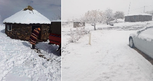 Most parts of Lesotho and eastern South Africa are experiencing snowy conditions