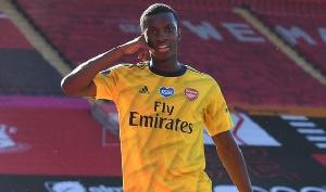 English-born striker of Ghanaian descent Eddie Nketiah