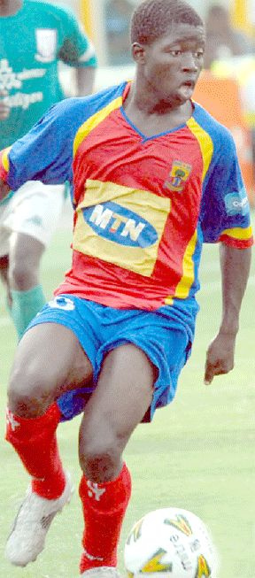 Torriq Jibril during his days at Hearts of Oak