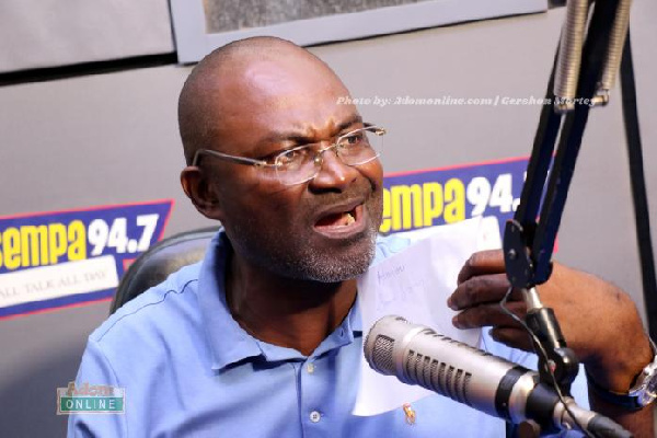 The author describes Kennedy Agyapong is weak-minded