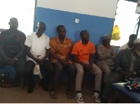 The suspected separatists at the Tumu Police Station