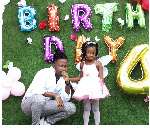 Kelvynboy throws party for his pretty first daughter who is 4 years old today