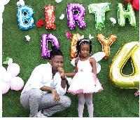 Kelvyn Brown and his daughter
