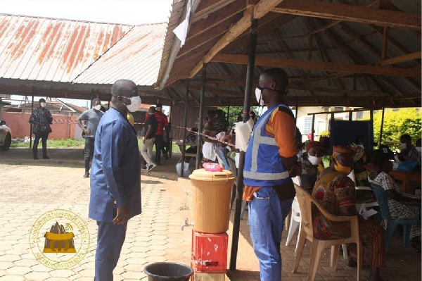 Bryan Acheampong tours voters registration centres in Abetifi constituency