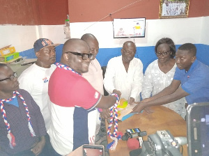 Jnr. Mike Oquaye filing his nomination forms today